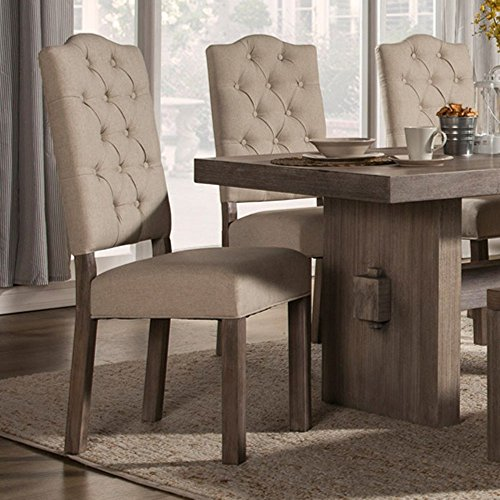 Side Chair in Weathered Gray Finish - Set of 2 by Alpine Furniture