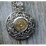 308 Rifle Bullet Filigree Pendant Necklace