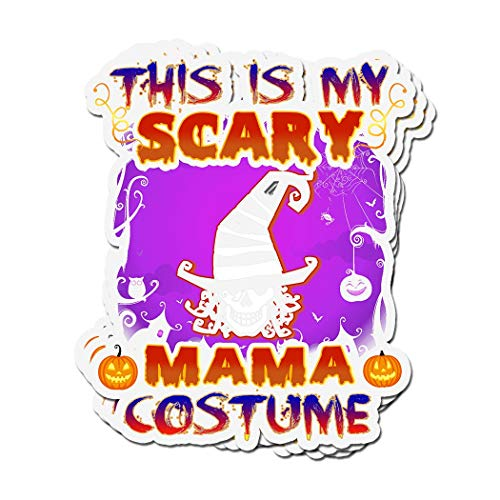 ViralTee 3 PCs Stickers This is My Scary Mama Costume Halloween 4 × 3 Inch Die-Cut Decals ()