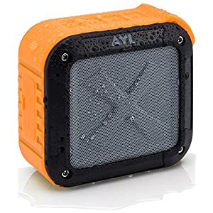 Portable Outdoor and Shower Bluetooth 4.0 Speaker by AYL SoundFit, Waterproof, Wireless with 10 Hour Rechargeable Battery Life, Powerful 5W Audio Driver, Pairs with All Bluetooth Devices (Orange)