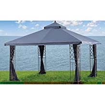 Tea Glass/Gluckstein Grid/Siesta Key 10 x 12 Gazebo Replacement Canopy - RipLock 350