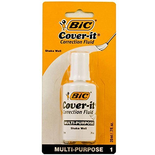 (1 X BIC 20ml / 0.7 fl. oz. Wite-Out Cover It Correction)