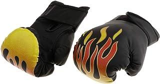 Baoblaze Guanti da Boxe MMA, Guanti da Boxe a Mezze Dita, con Cinturino Regolabile, per Kickboxing, MMA