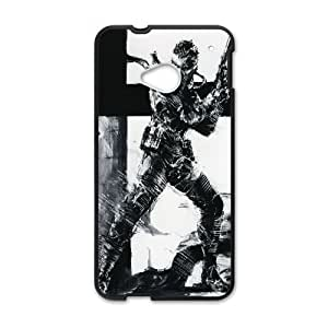Solid Snake Metal Gear Solid Game 5 HTC One M7 Cell Phone Case Black persent xxy002_6870801