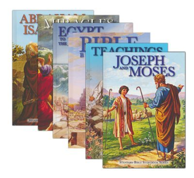 Standard Bible Storybook Series, 8 Volumes: Bible Beginnings; Joseph and Moses; Jesus: The Early Years; Miracles of Jesus; Abraham, Isaac, and Jacob; Egypt to the Promised Land; Teachings of Jesus & Jesus: His Last Days