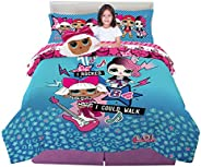 Franco Kids Bedding Super Soft Comforter with Sheets and Plush Cuddle Pillow Set, 6 Piece Full Size, LOL Surpr