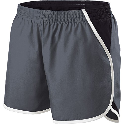 Holloway Sportswear Girls Energize Shorts. 229425 Graphite / Black / White XL by Holloway