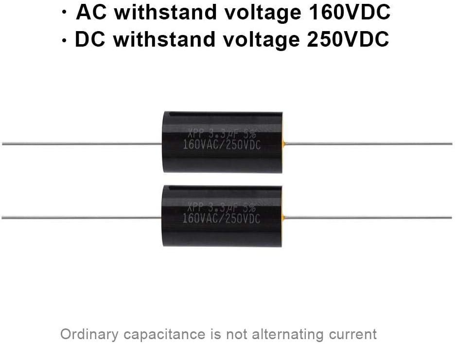 Topiky 2 PCS Condensateur Diviseur De Fr/équence Capacitance Hi-FI Audio Haut-Parleur Crossover Filtre Filtre Fr/équence Distributeur 1uF