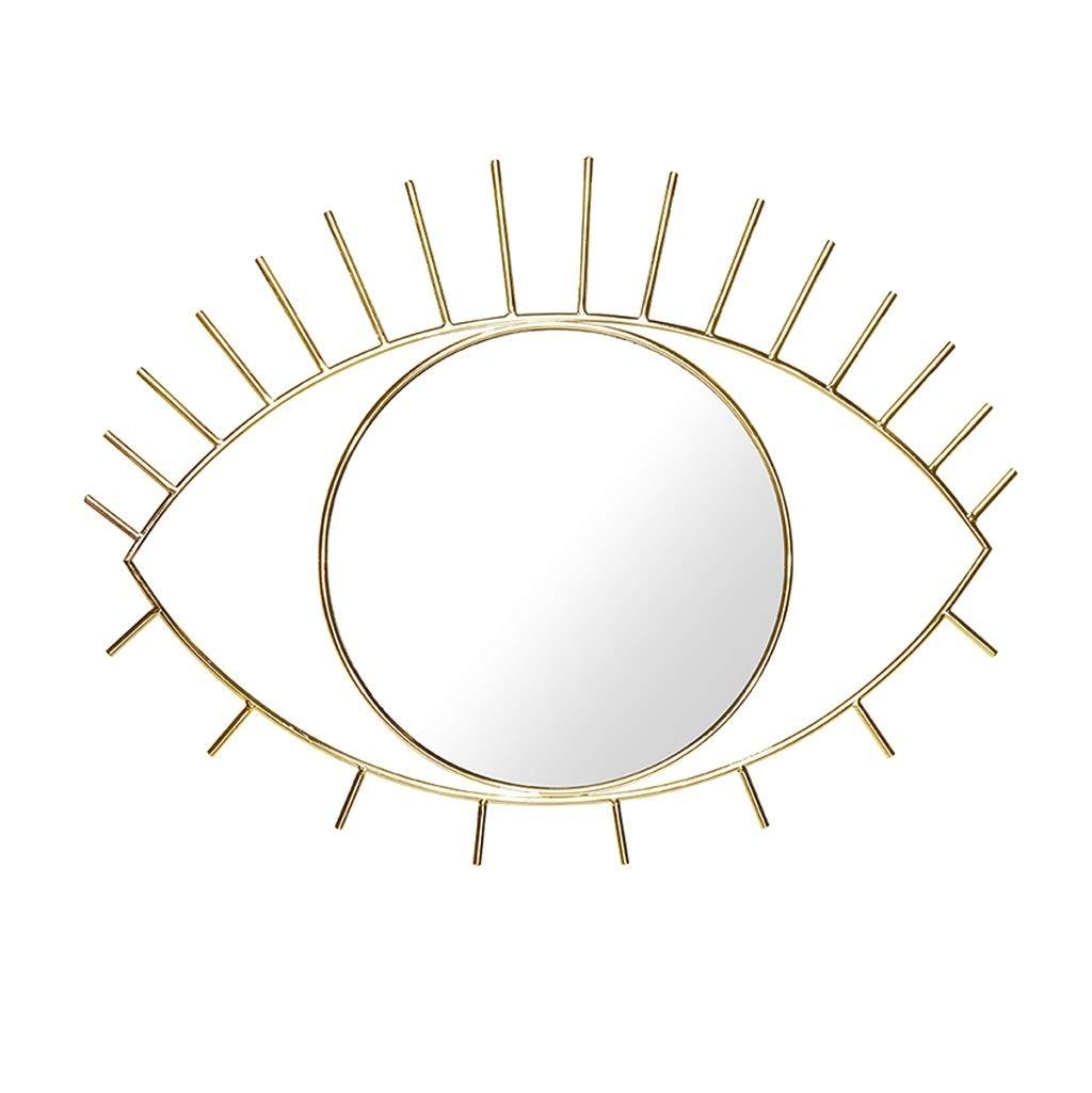 gold GAIXIA Mirror Desktop Mirror Beautiful Eye Shape Creative Home Decoration Mirror Hanging Mirror Decorative Mirror Wall Mirror (color   gold)