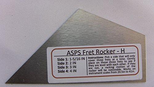 Luthier Tool Fret Level Rocker Type I (Diamond Honed) for Guitar Necks | and Banjo Mandolin Dulcimer Necks fits Martin Gibson Taylor Fender PRS Epiphone ESP G&L Guild Ibanez Jackson ()