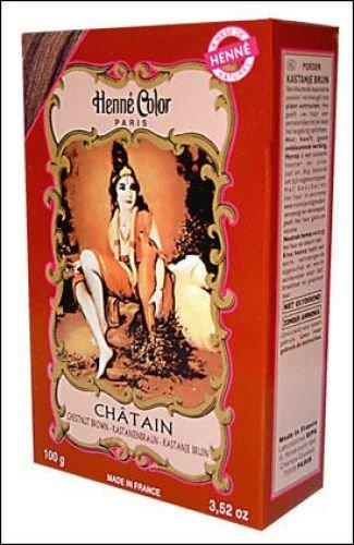 Chestnut Brown Henne Natural Henna Hair Colouring Dye Powder Globalbeauty
