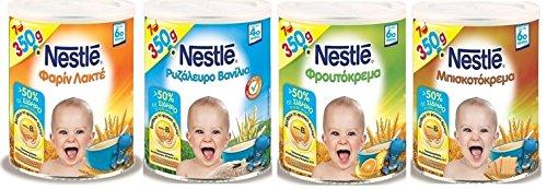 Nestle Variety Baby Farine Lactee, Riceflour , Fruit Cream, Biscuit cream by Nestle (Image #5)