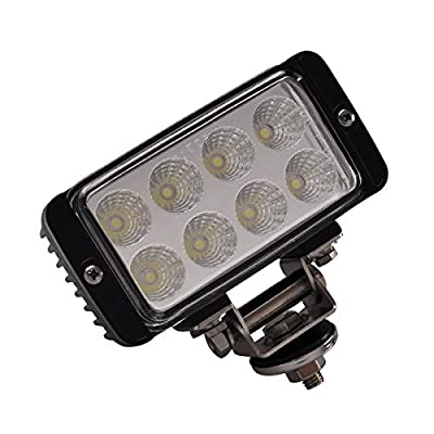 Lightronic Cube LED Driving Lights 24W 5.5 Inch LED Work Lights for tractors Flood Beam 2400LM Off Road Light for For SUV Car Truck Tractor Trailer