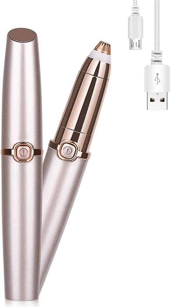 Rechargeable Eyebrow Trimmer Hair Remover for Women,BEENLE Painless Eyebrow Trimmer Electric Portable Eyebrow Razor,Best Gift for Face Lips Nose Facial Hair Removal