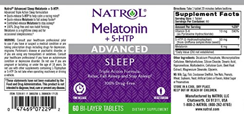 Natrol Melatonin Advanced Sleep Time Release Tablets