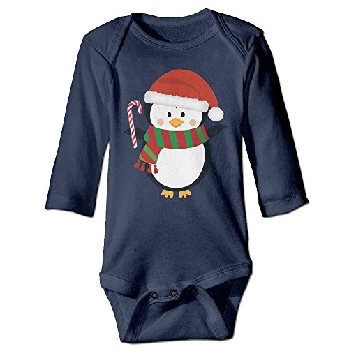 Christmas Penguin Clipart Personalize For Climbing Clothes Infant Rompers Navy Clip Art Certificate