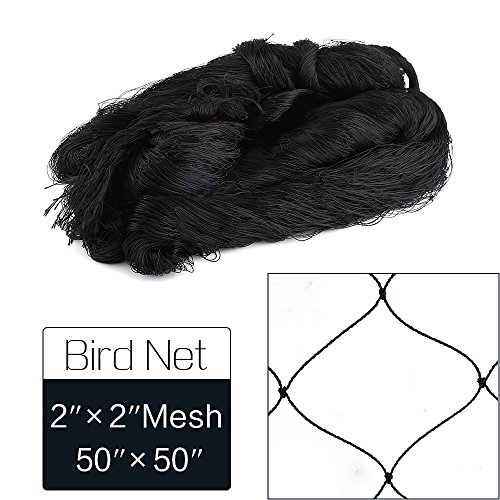 2' Poultry Net - 50' X 50' Net Netting for Bird Poultry Aviary Game Pens New 2