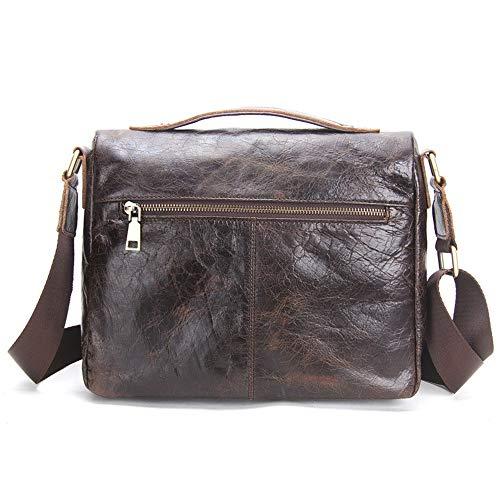 Men's Real Asdflina à Quotidien Un Sac Leather Grande Convient capacité Porte Business pour Usage Documents Main Loisirs q4qEw