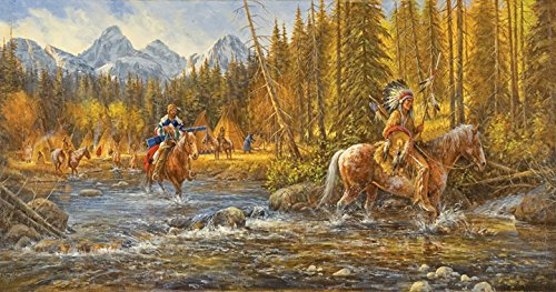 Blackfoot Trapper 500 pc Jigsaw Puzzle