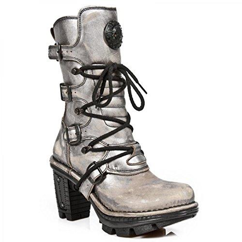 New Rock Boots M.neotr005-c23 Gotico Hardrock Punk Damen Stiefel In Acciaio Colorato