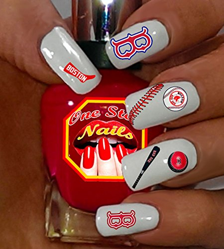 (Sox water-slide nail decals (tattoos) V1. Set of 61. (OSN1))