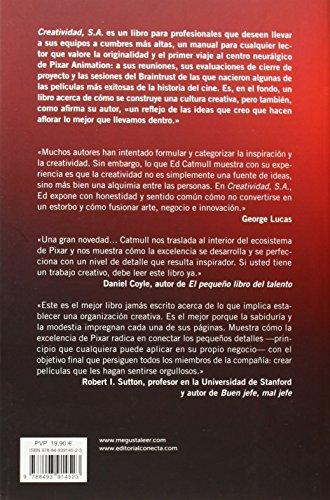 Creatividad, S.A.: Cómo llevar la inspiración hasta el infinito y más allá de Edwin Catmull   Letras y Latte - Libros en español