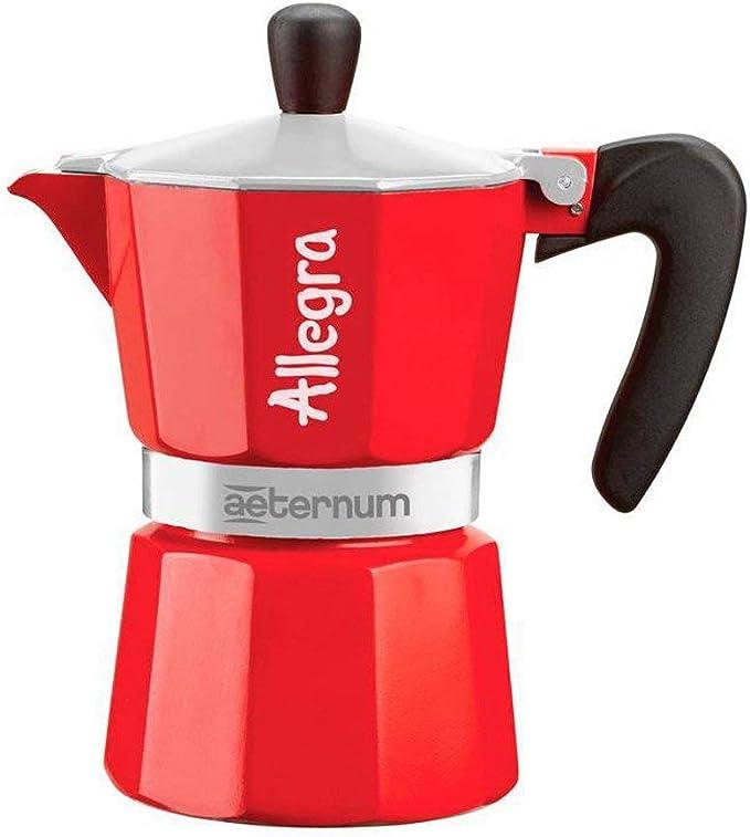 Aeternum 0006013 Allegra in Sleeve cafetera Italiana Aluminio, Aluminio, Rojo, 6 tasses: Amazon.es: Hogar