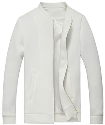Ohaiquza Fleece-Outerwear-jacketsLeisure Solid Slim Memory Foam Spring Male Overcoats Chaqueta Beige M