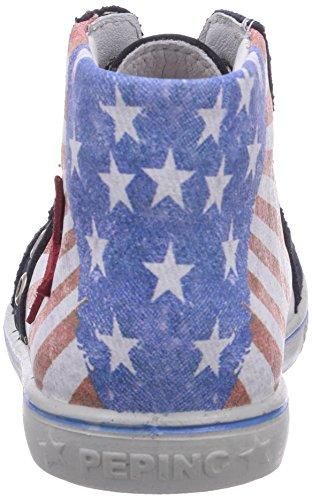 Ricosta Flag - zapatillas deportivas altas de piel infantil azul - Blau (nautic/rot 353)