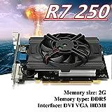NXDA R7 250 2GB GDDR5 128bit VGA DVI HDMI Graphics Card With Fan Gaming PC Graphics Card (Black)