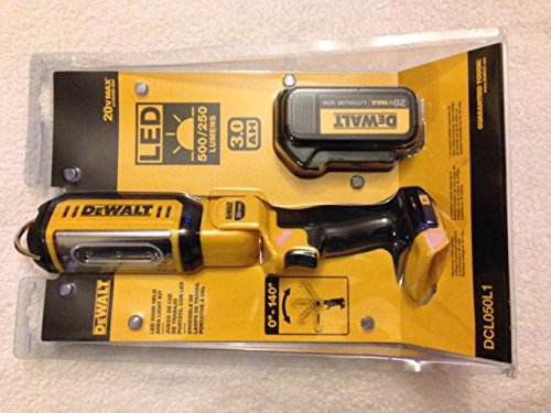 Dewalt DCL050L1 20V MAX 3.0 Ah Cordless Lithium-Ion Hand Held Area Light Kit