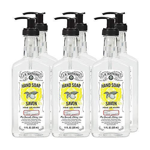 J.R. Watkins Hand Soap, Gel, 11 fl oz, Lemon (6 pack) (Cream Lemon Shea Watkins Butter)