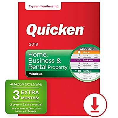 Quicken Home, Business and Rental Property Manager 2018