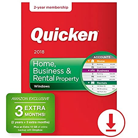 Quicken Home & Business 2018 - 27-Month - Amazon Exclusive [PC Online Code]