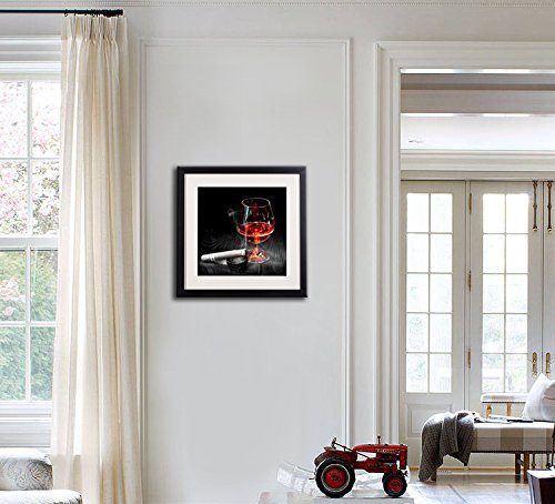 7ece29069c1 Amazon.com  Framed Wine And Grapes Wall Art Prints Posters For Living Room  Decorations Black White And Red Rose Wall Art Decor Artwork Canvas  Paintings 4 ...