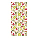 OxOHome Custom Bath Towel Quick Dry Absorbent Towels Spa Shower Wrap for College Dorms, Gyms, Locker Rooms, 27.5 x 55 inch - Summer Fruit Party Watermelon Pineapple Kiwi Cherry Tomato