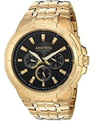 Armitron Men's 20/5144BKGP Multi-Function Dial Gold-Tone Bracelet Watch