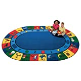Carpets for Kids 1308 Printed Blocks of Fun Oval Kids Rug Size: Oval 8'3' x 11'8'