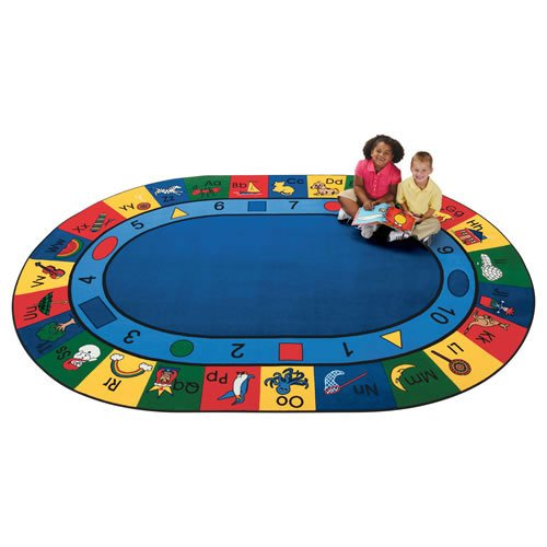 Carpets for Kids 1308 Printed Blocks of Fun Oval Kids Rug Size: Oval 8'3'' x 11'8''