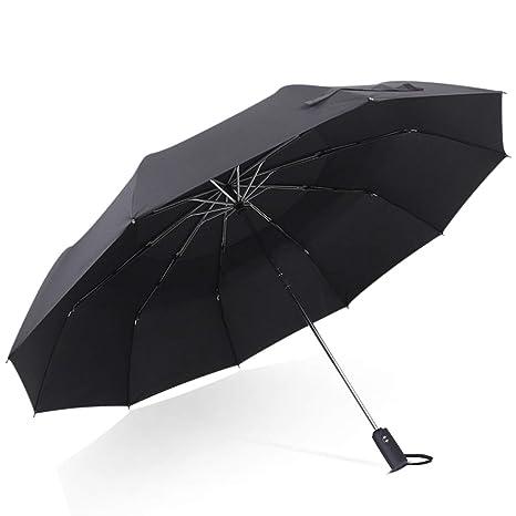 el precio se mantiene estable venta usa online retro DORRISO Hombres Mujer Automático Plegable ParaguasPortátil Viajar Paraguas  Dosel Doble Grande Antiviento Impermeable Unisexo Paraguas Negro
