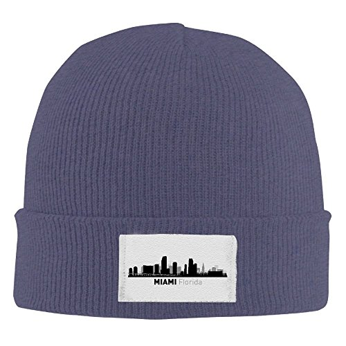 Miami Florida Cute Stocking Beanie Hat Ski - Miami Place City