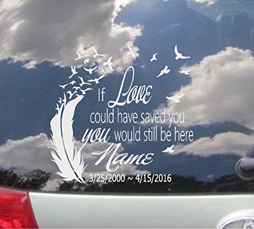 in memory of loved one decal - 5