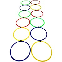 SAHNI SPORTS Plastic Agility Ring Ladder, Set of 12, Multi-Color