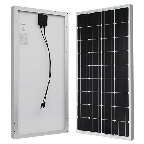 Renogy 100W Monocrystalline Photovoltaic PV Solar Panel Module 12V Battery Charging