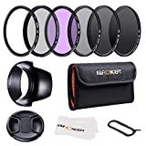 K&F Concept 55mm Slim UV CPL FLD ND2 ND4 ND8 Neutral Density Lens Filter Set Compatible with Sony A55 A55 A57 A65 A77 A100 DSLR Cameras