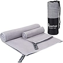 Microfiber Towel - 2 Pack Travel& Sports Towel, Quick Drying, Lightweight, Ultra Absorbent, Compact for Fitness, Camping, Backpacking, Beach, Yoga, Pilates, Gym, Bath, Shower