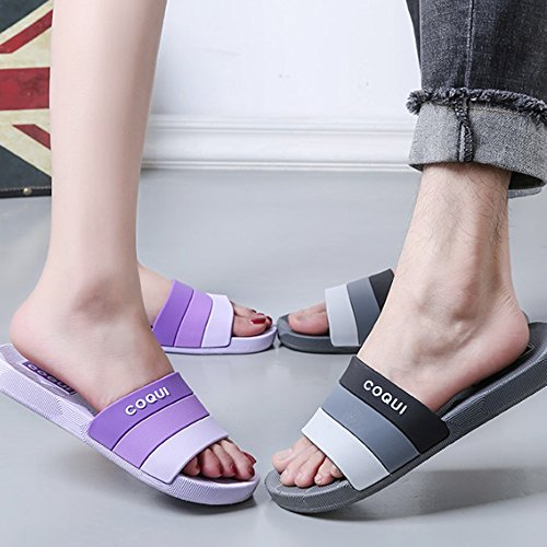 Slippers MEIDUO, Summer indoor home couple bathroom Home men and women anti-skid wear Bath cooler (5 colors optional) (size optional) Comfortable E