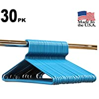 Best Durable Everyday Heavy-Duty Adult Thick Plastic Clothing Tubular Hangers - No Hooks, USA Made