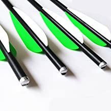 12pk Fiberglass Arrows Crossbow Bolts with Aluminum Half Moon Nock and 100 Grain Screw-In Points