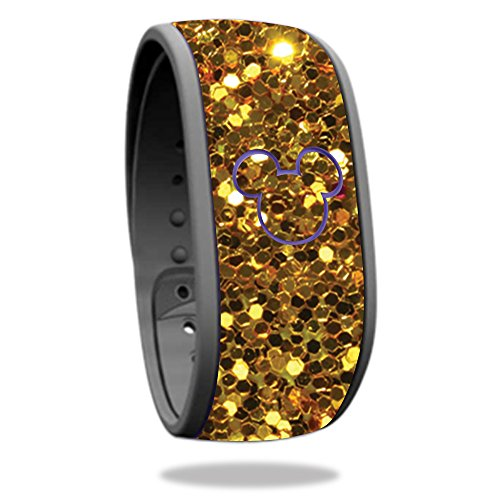 Skin For Disney Magic Band – Gold Dazzle | MightySkins Protective, Durable, and Unique Vinyl Decal wrap cover | Easy To Apply, Remove, and Change Styles | Made in the USA Disney Bands